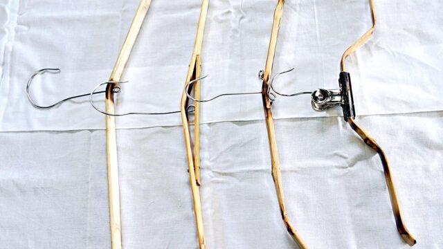 竹製ハンガー4本